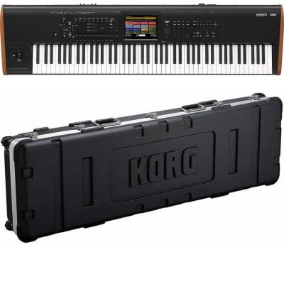 Korg Kronos 2 88-key Synthesizer Workstation, Korg HCKRONOS288BLK Case Bundle