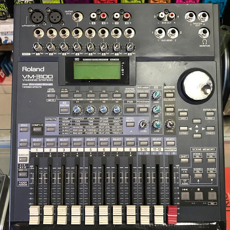 Roland Vm 3100 V Mixing Station 24 Bit 12 Channel Mixer