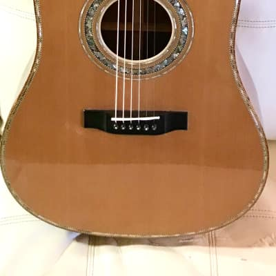 Magnum Opus Presentation Walnut Dreadnaught Guitar. for sale