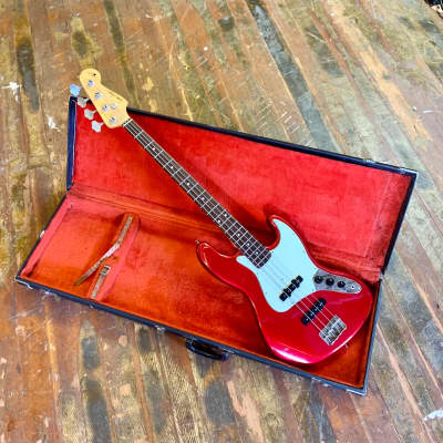 Seymour Duncan Traditional Jazz Bass CAR candy apple red DuPont J for sale
