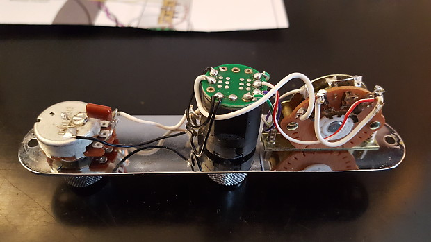 Fender Telecaster Deluxe Control Plate - Loaded S-1 + Greasebucket on tele super switch diagram, grease bucket wiring strat mods, grease bucket wiring strat guitar, how a bullet works diagram, bass cut diagram,