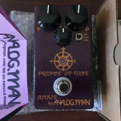 Analogman Prince of Tone Overdrive Pedal, As New for sale