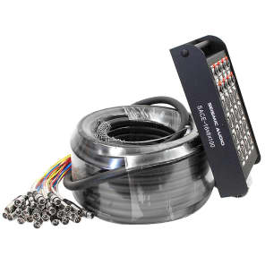 """Seismic Audio SACE-16x8x100 16-Channel XLR Snake Cable w/ 1/4"""" TRS Returns - 100'"""