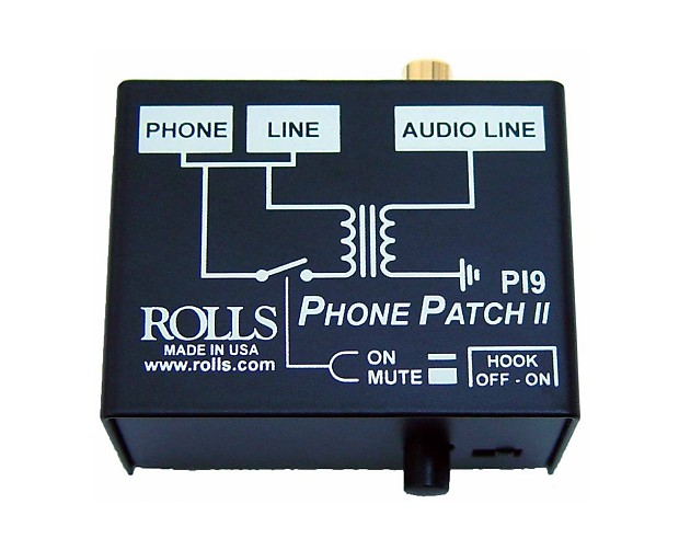 Phone patch ii by rolls, pi9 | full compass systems.