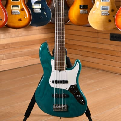 Fender American Deluxe Jazz Bass Rosewood Fingerboard Teal Green for sale