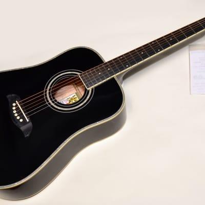 Oscar Schmidt OG1 3/4 Size Acoustic Guitar Black Finish Professionally Setup! for sale