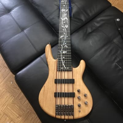 Raven West 7 string bass 2011 natural maple