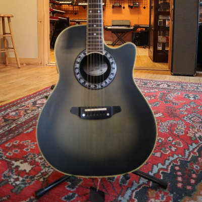 Tornado by Morris ZII Acoustic Electric Guitar Charcoal Burst