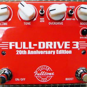 Fulltone Custom Shop FD-3 Full Drive 3 20th Anniversary Edition Dual Overdrive Pedal