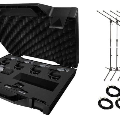 Sennheiser e600 Series 7-Piece Drum Case w/ 7 20' XLR Cables & 7 Stands Bundle image