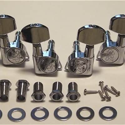 Guitar Parts WILKINSON EZ E-Z-LOK - 3 Per Side 3x3 - TUNERS SET - Chrome