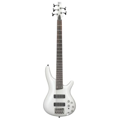 Ibanez SR Standard 5 string Electric Bass - Pearl White