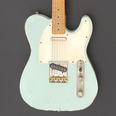 K-Line Truxton Tele-Style Guitar – Ash, Maple, Faded Sonic Blue, Relic for sale