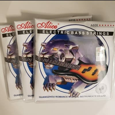 3 Sets of Alice A606(4)-M Electric Bass Strings Medium for 4-string Bass (45-105)