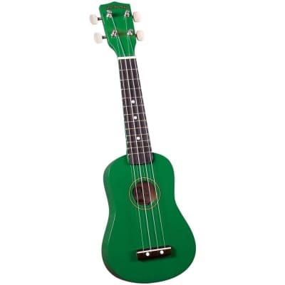 Diamond Head DU-105 Rainbow soprano ukulele, green with gig bag for sale