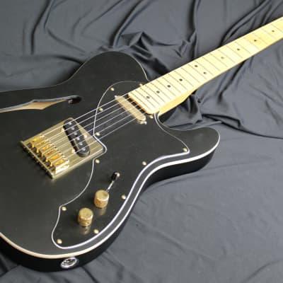Fender Telecaster LTD Thinline Deluxe Black Satin Gold Hardware W/Bag for sale