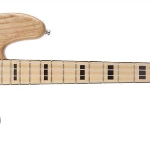 Fender American Deluxe Jazz Bass Ash, Maple Fingerboard, Natural, 3-Ply B W B Pickguard 194582721 for sale