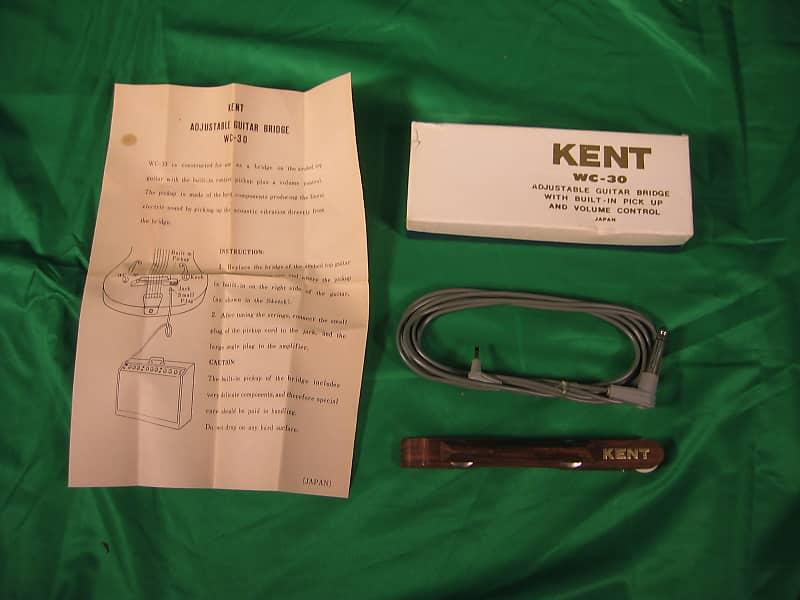 Vintage 1960s Nos Kent Wc 30 Archtop Guitar Adjustible Bridge Reverb