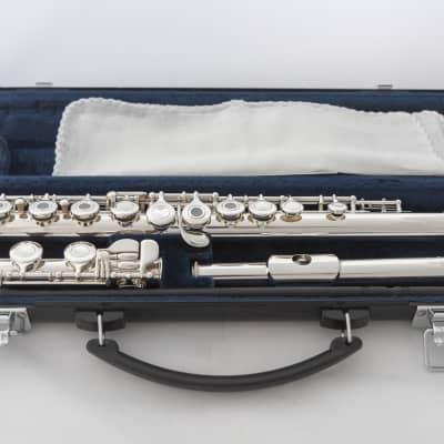 Yamaha YFL-361H Open-hole Intermediate Flute *Silver Headjoint *Low-B *Cleaned & Serviced