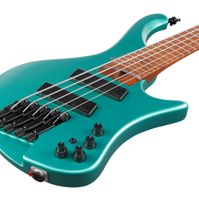 Ibanez EHB1005SMS-EMM E-Bass 5 String Multiscale Short Emerald Green Metallic Matte for sale