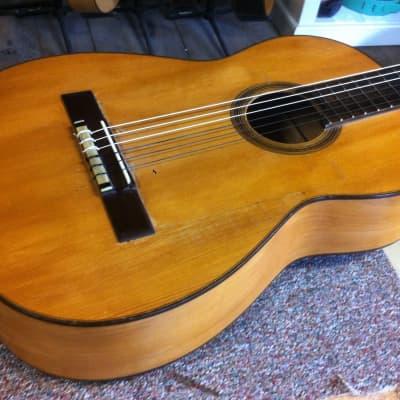 Belle guitare du luthier Ricardo Sanchis Nacher vers 1930/40 tête à chevilles 1,01 kg! for sale