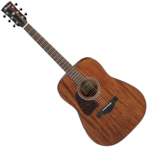 Ibanez AW54LOPN Artwood Series Left-Handed Dreadnought Acoustic Guitar Natural Mahogany
