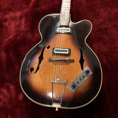 """c.140 ZEN-ON ZEP-140 Hollow Body MIJ Vintage Guitar  """"Brown"""" for sale"""