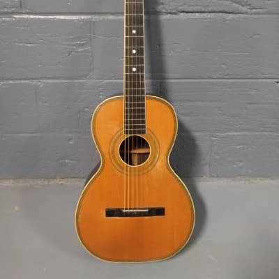 Lyon & Healy American Conservatory Parlor Acoustic Guitar Natural for sale