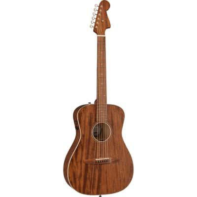 Fender Malibu Special Mahogany Natural Satin Electro-Acoustic Guitar with Gig Bag for sale