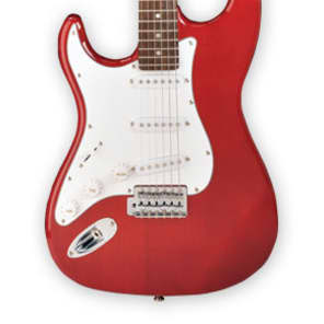 Jay Turser JT-300-LH-TR 300 Series Double Cutaway 6-String Electric Guitar Left Handed - Trans Red for sale