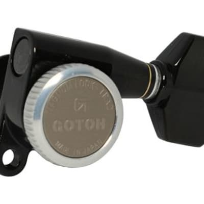 Gotoh SG360 Tuners 6 In-Line Right Handed Black, 07