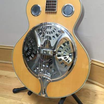 Washburn Resonator Acoustic Guitar - Round Neck -  Bluegrass - Spruce and Mahogany for sale