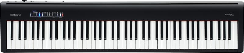 roland fp 30 digital piano with stand and pedal bundle reverb. Black Bedroom Furniture Sets. Home Design Ideas