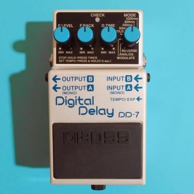 Boss DD-7 Digital Delay w/box, manual & tap tempo switch
