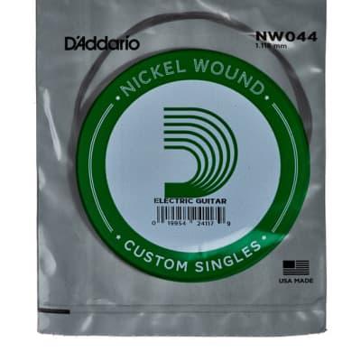 D'Addario NW044 Single Nickel Wound Electric Guitar String