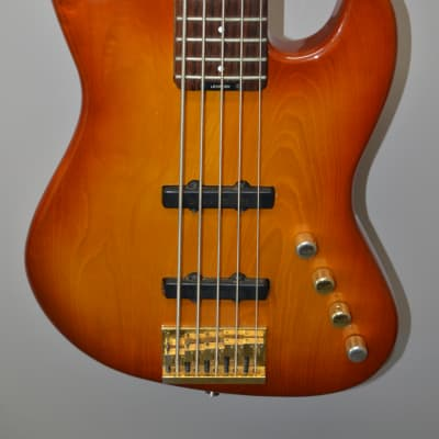 Levinson Blade  B25 5-string Bass,  Late 80's Honeyburst for sale