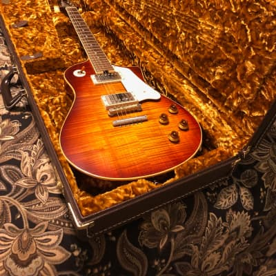Asher ES1 model Neck-Through and String-Through body guitar 2017 Nitro Vintage Burst lacquer for sale