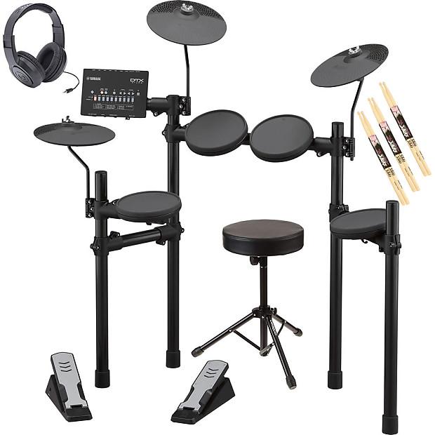 Yamaha DTX402K Electronic Drum Kit w/ FREE Drum Throne, Headphones & Drum  Sticks