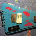 Echo Canyon Prototype Headless Guitar 2018 Distressed Aqua/Red