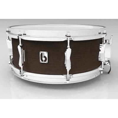 "British Drum Company Lounge Series 14x6.5"" 8-Lug Mahogany / Birch Snare Drum"