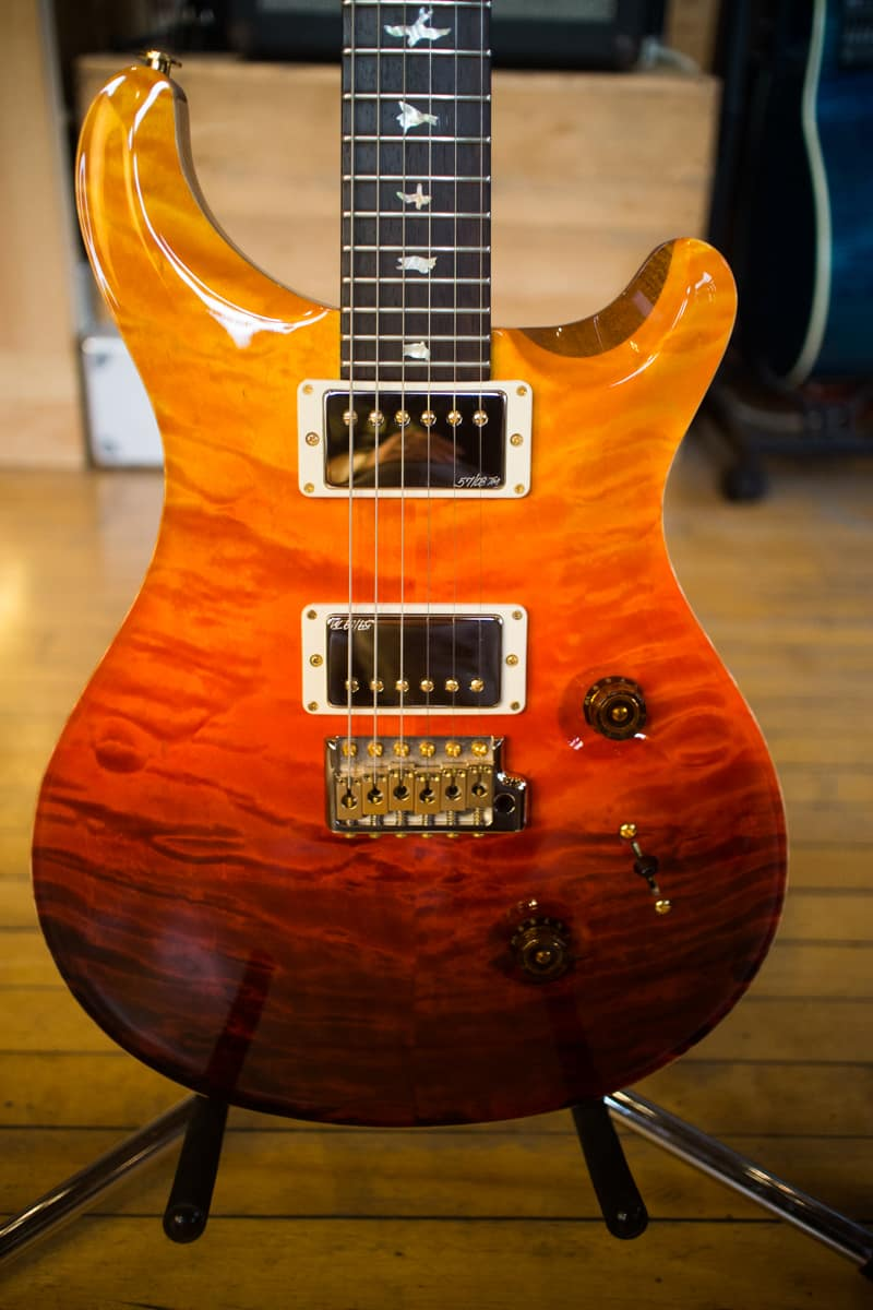Paul Reed Smith Prs Custom 24 Wood Library Quilt 2013 Fade