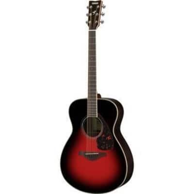 Yamaha FS830 DSR Solid Top Acoustic Guitar - Dusk Sun Red