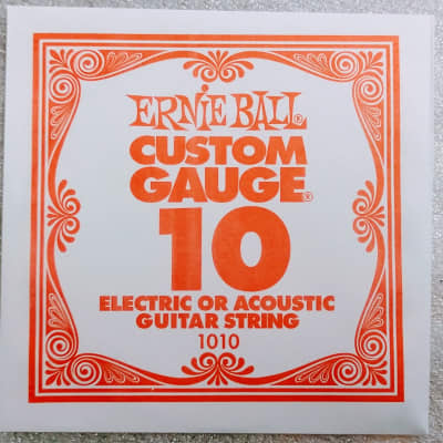 Ernie Ball Plain String Nickel for Acoustic/Electric .010