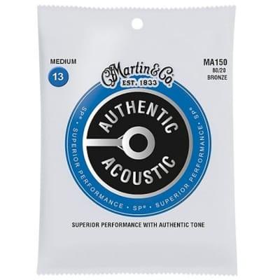Martin MA150 SP 80/20 Bronze Medium Authentic Acoustic Guitar Strings