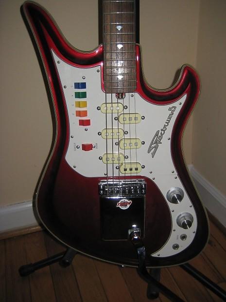 teisco spectrum 5 electric guitar japan red surf guitar reverb. Black Bedroom Furniture Sets. Home Design Ideas