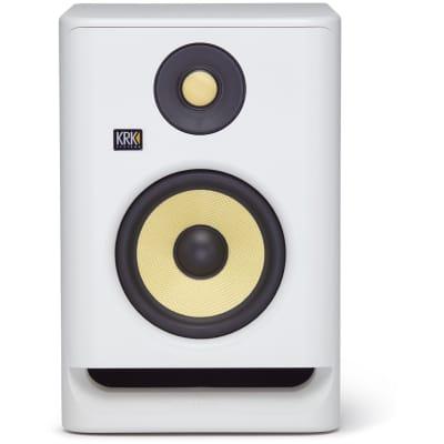 KRK RP5G4 Rokit 5 Generation 4 Powered Studio Monitor, White, Single Speaker