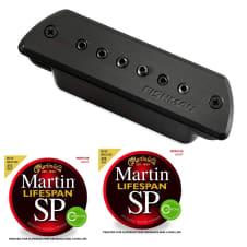 Fishman PRO-BLK-STK Blackstack Acoustic Soundhole Pickup with Martin Strings