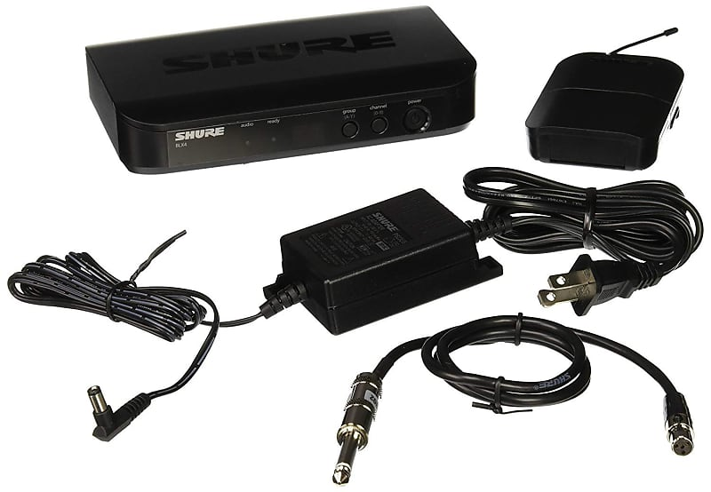 shure blx14 h9 wireless guitar system with wa302 guitar cable reverb. Black Bedroom Furniture Sets. Home Design Ideas