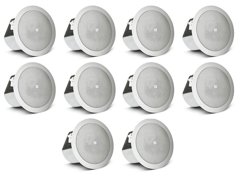 "Pair JBL CONTROL 12C//T 3/"" 15w 70v In-Ceiling Speakers For Restaurant//Bar//Cafe"