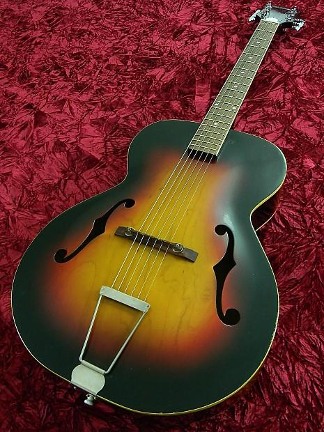 silvertone vintage 1969 arch top acoustic jazz blues guitar reverb. Black Bedroom Furniture Sets. Home Design Ideas